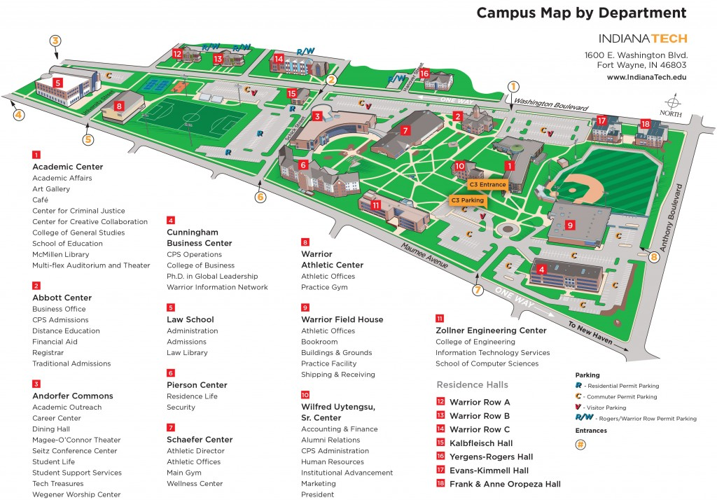 Indiana Tech Campus Map Fort Wayne Inventors Club